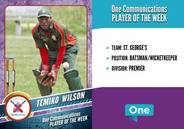 Temiko Wilson of St. George's CC Bermuda July 12 2018