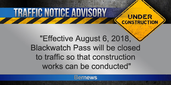 Traffic-Advisory-Bermuda July 30 2018 TC