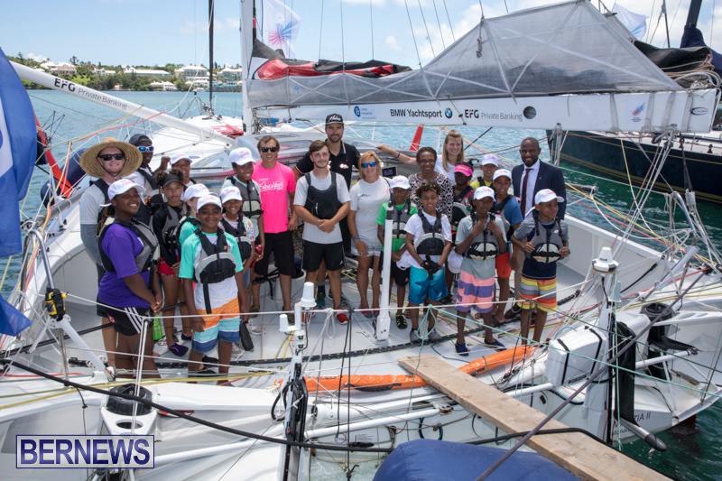 Youth Sailors Visit Hamburg Race Participants Bermuda, July 6 2018-0208