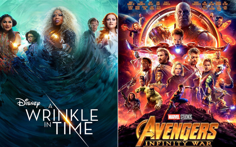 A Wrinkle in Time and Avengers Bermuda August 2018