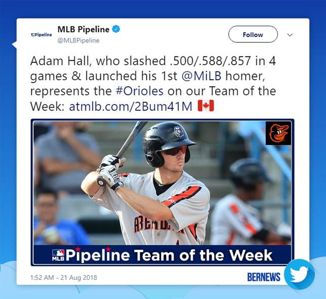 Adam Hall tweet Bermuda August 21 2018
