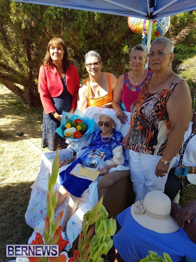 Angelina Bean 100th Birthday Bermuda, August 16 2018 (2)