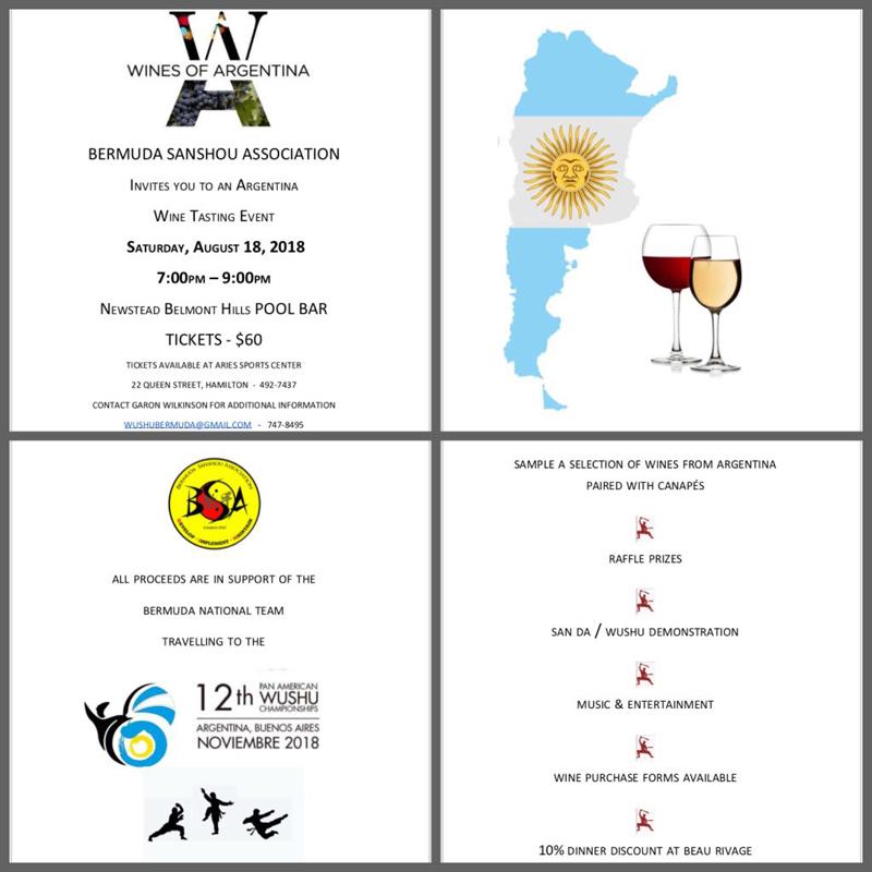 Argentine Wine Tasting Bermuda August 2018