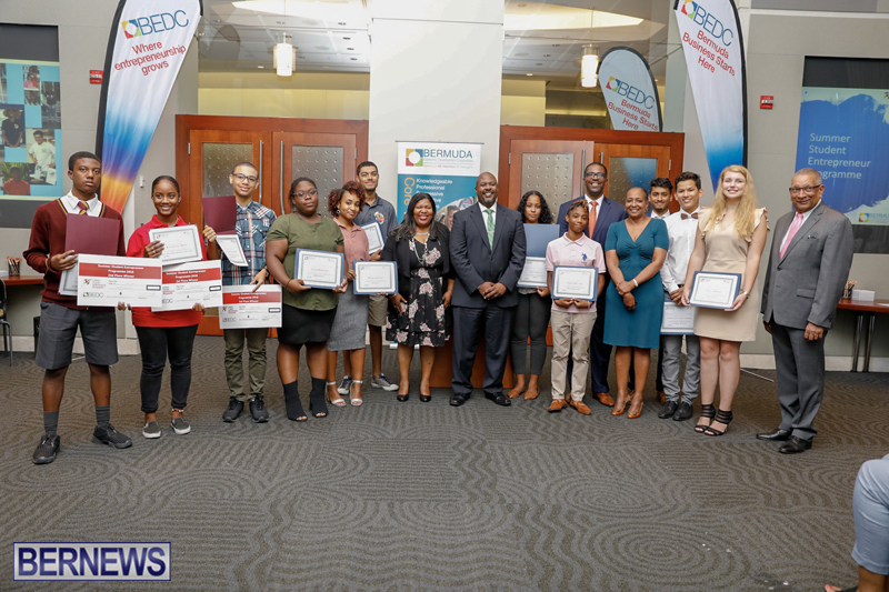 BEDC Student Entrepreneur Awards Bermuda (2) August 30 2018
