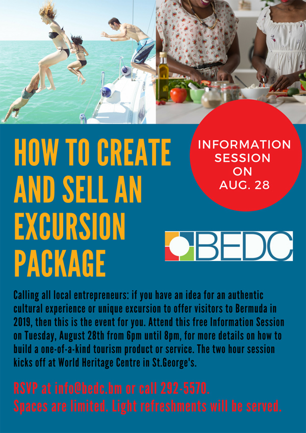 BEDC Tourism Information Session Bermuda August 2018