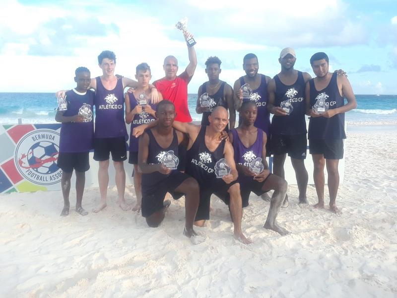 Beach soccer champions Bermuda August 2018