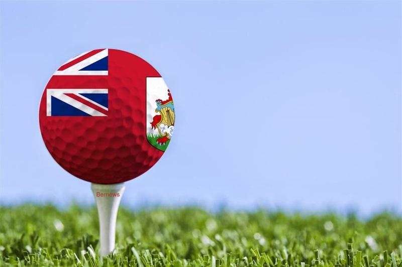 Bermuda Flag golf ball generic er2weqr2eqr