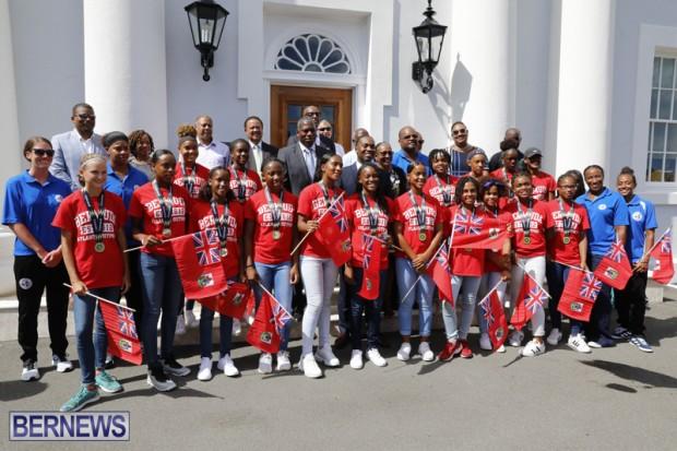 Bermuda U15 football team at Cabinet Office August 14 2018 (1)