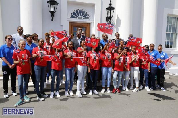 Bermuda U15 football team at Cabinet Office August 14 2018 (2)
