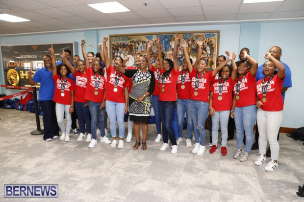 Bermuda Women's U15 football team August 14 2018