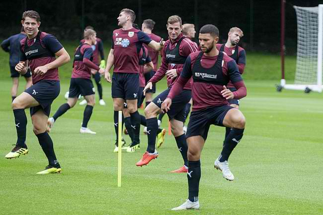 Burnley FC Training Nahki Wells Bermuda August 16 2018