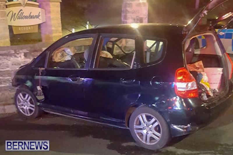 Car Wall Collision Bermuda, August 25 2018-25