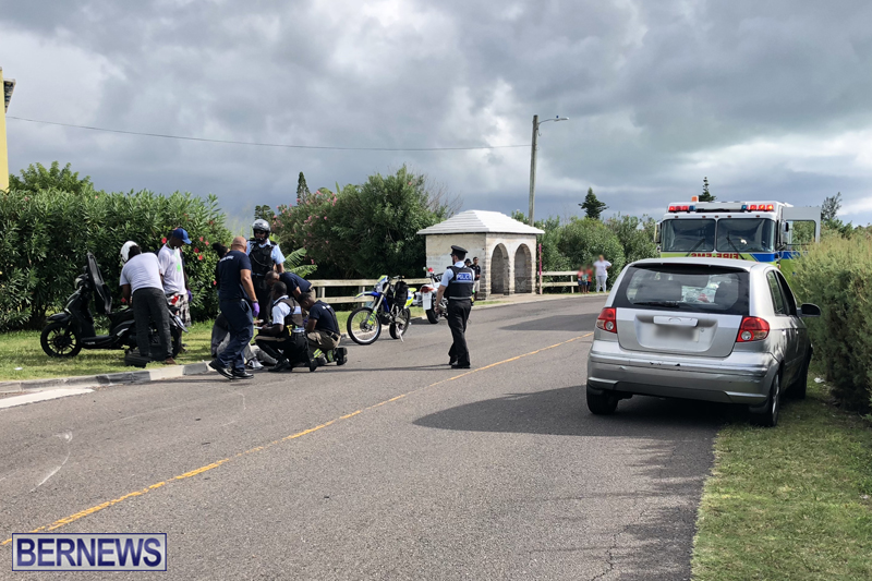 Collision Malabar Road Bermuda August 5 2018 (1)