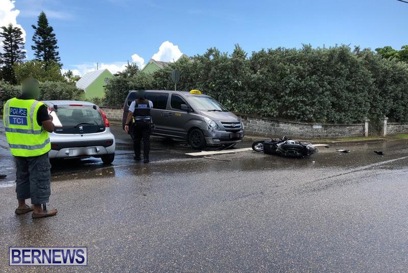 Collision Ord Road Cobbs Hill Bermuda, August 11 2018