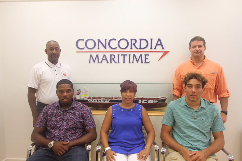 Concordia Maritime scholarship recipients Bermuda August 2018