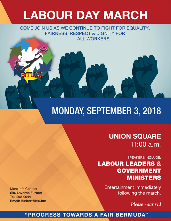 Labour Day March August 2018