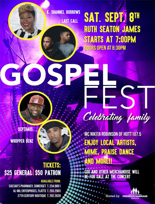Preserve Marriage Family Gospel Concert Bermuda August 2018