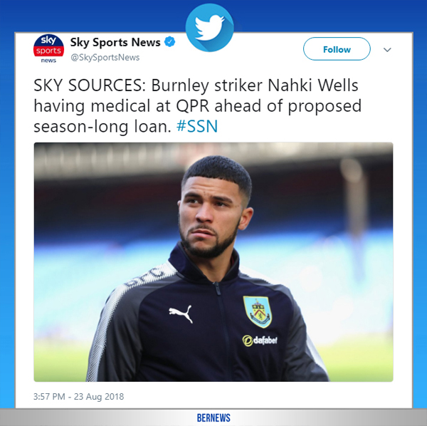 Sky Sports News tweet Bermuda August 23 2018