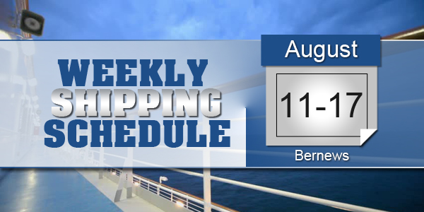 Weekly Shipping Schedule TC August 11-17 2018