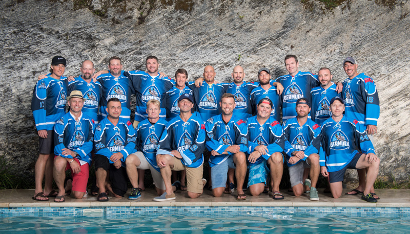 Bermuda Ball Hockey Association Men's team Sept 2018