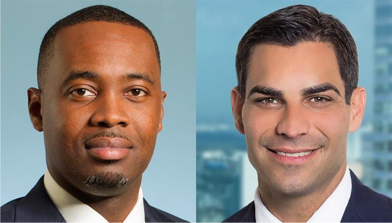 Bermuda Premier David Burt And Miami Mayor Francis Suarez Bermuda Sept 20 2018