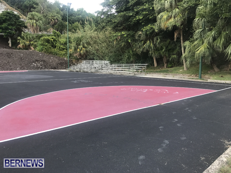 Bernards Park Netball Court Bermuda Sept 17 2018