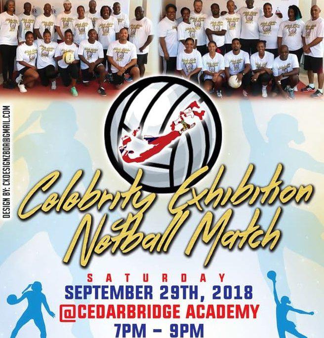Celebrity Exhibition Netball Match Bermuda Sept 2018