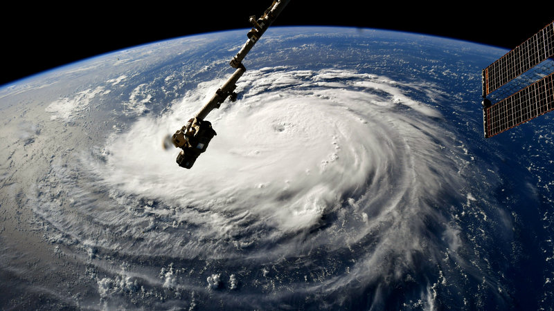 Hurricane Florence International Space Station September 2018