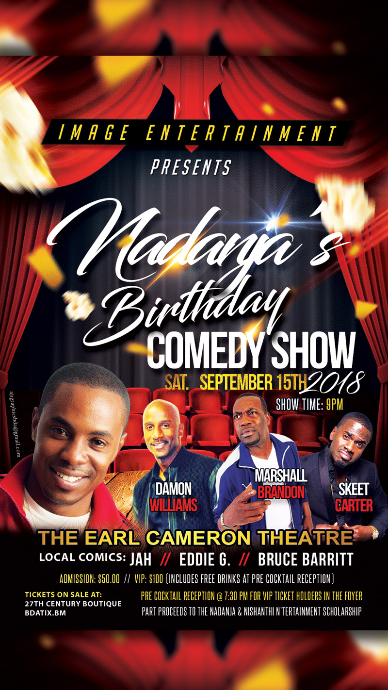 Nadanja's Birthday Comedy show Bermuda Sept 11 2018