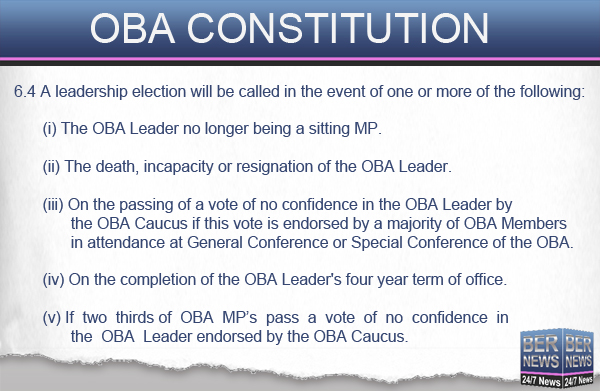 OBA Constitution 1 leadership election