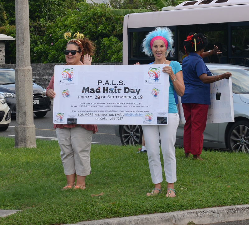 PALS Mad Hair Day Crow Lane Roundabout Bermuda Sept 2018 (1)