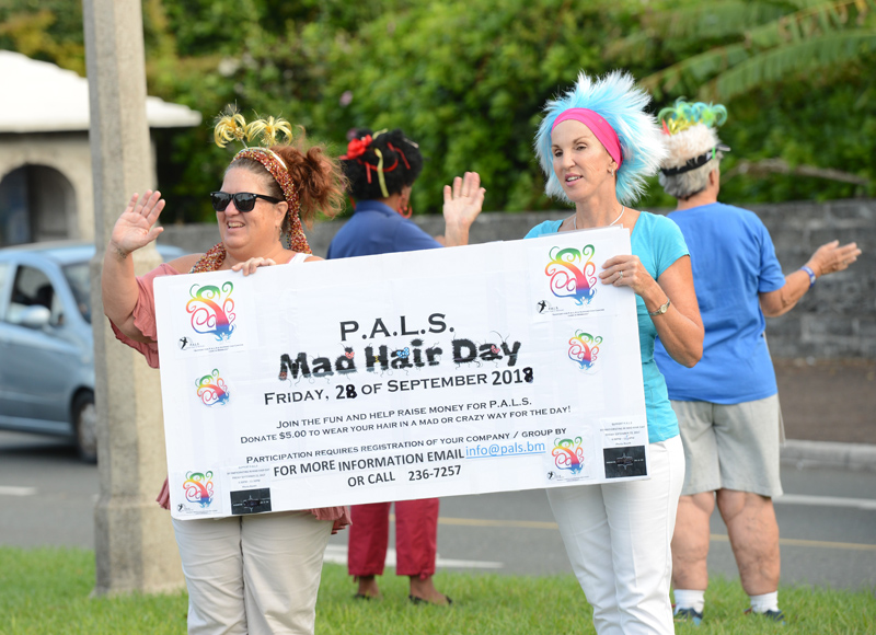 PALS Mad Hair Day Crow Lane Roundabout Bermuda Sept 2018 (4)