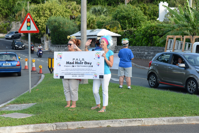 PALS Mad Hair Day Crow Lane Roundabout Bermuda Sept 2018 (7)