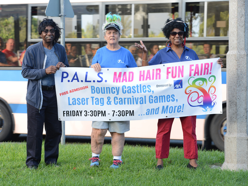PALS Mad Hair Day Crow Lane Roundabout Bermuda Sept 2018 (8)