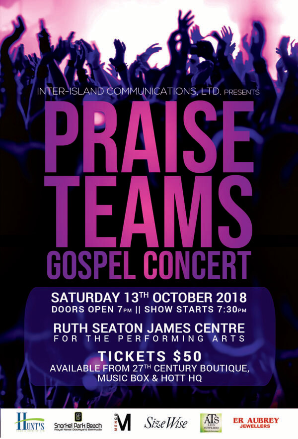 Praise Teams Gospel Concert Bermuda Sept 11 2018