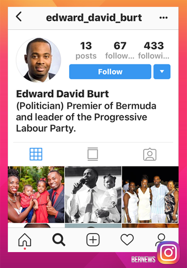Premier Burt Fake IG account