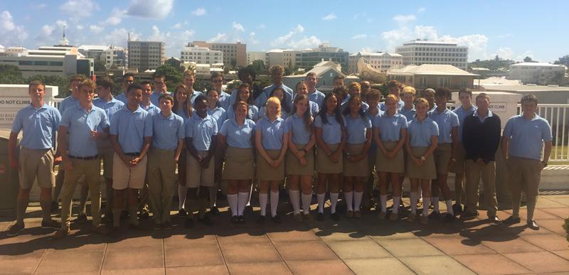 Saltus GCSE 2018 group Bermuda September 6 2018