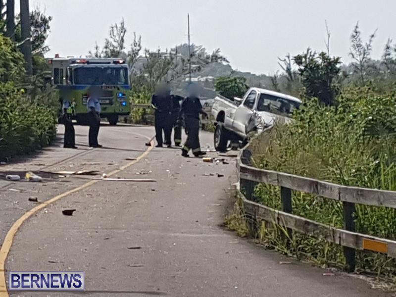 Southampton Trucks Collision Bermuda, September 11 2018 (2)