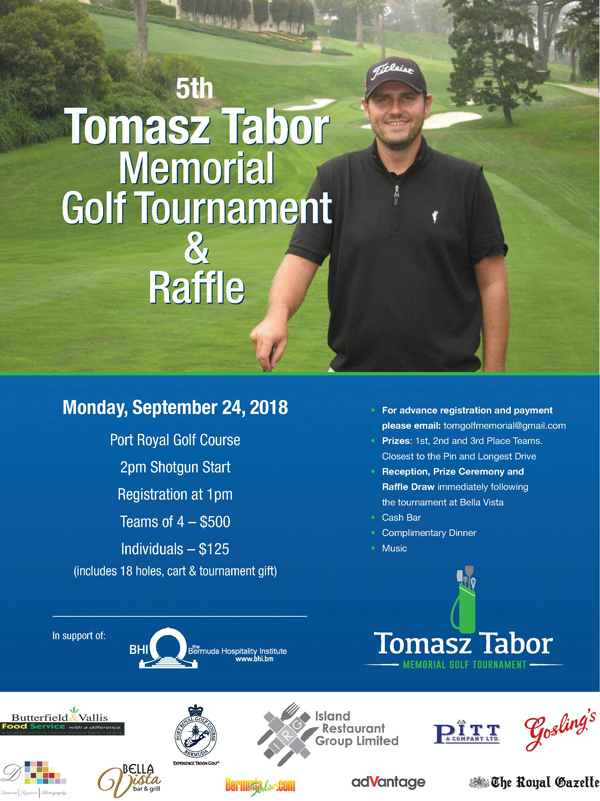 Tomasz Tabor Memorial Golf Bermuda Sept 2018