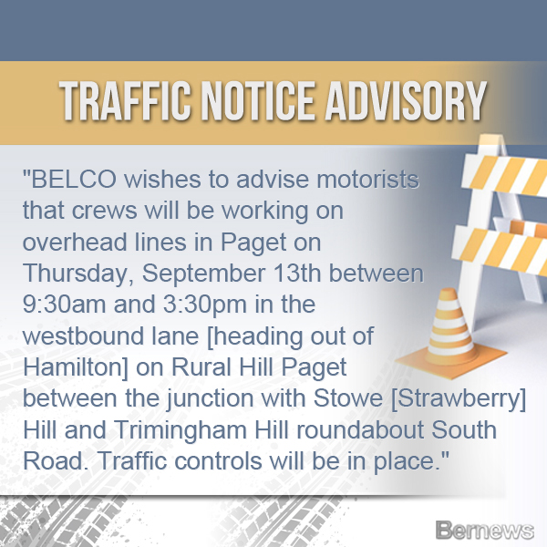 Traffic Advisory Bermuda Sept 11 2018 IG