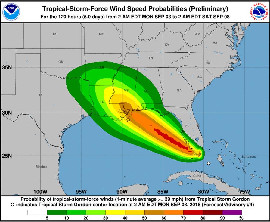 Tropical Storm Gordon Special Bermuda September 3 2018 NHC