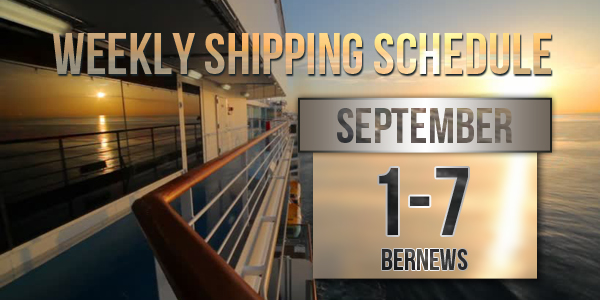 Weekly Shipping Schedule TC September 1-7 2018