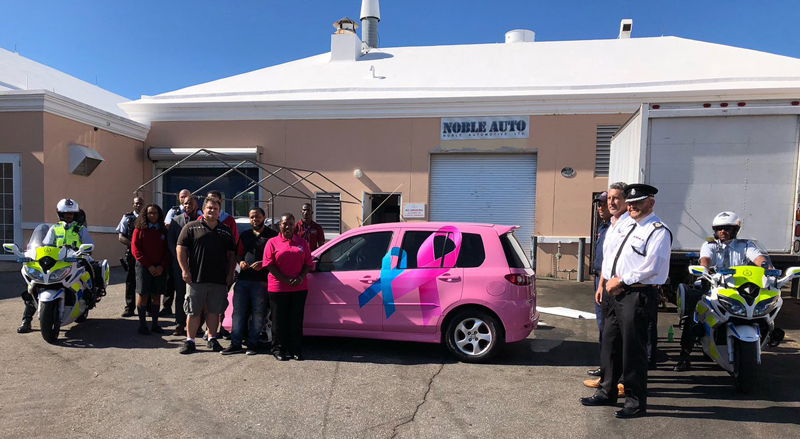 BPS Cancer 'Tribute Vehicle' Handover Bermuda Oct 31 2018