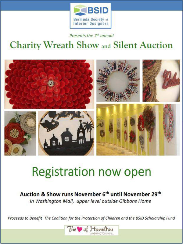 BSID Charity Wreath Show & Silent Auction Bermuda Oct 2018