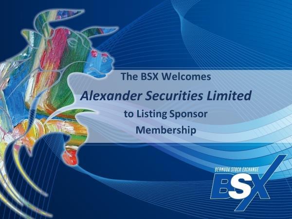 BSX Alexander Securities Limited Bermuda October 2018