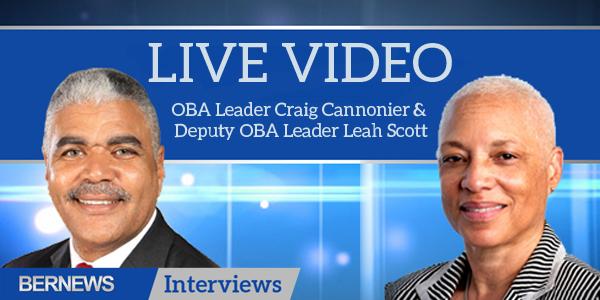 Bernews Interviews Live Video TC Craig Cannonier and  Leah Scott Bermuda Oct 10 2018