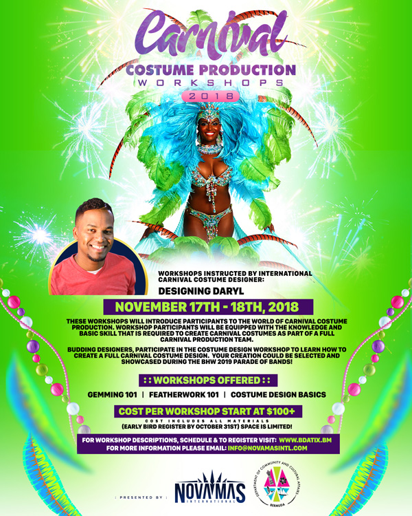 Carnival Costume Production Workshops Bermuda Oct 2018