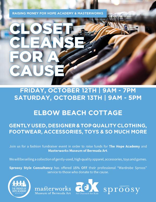 Closet Cleanse Fundraiser Bermuda Oct 2018