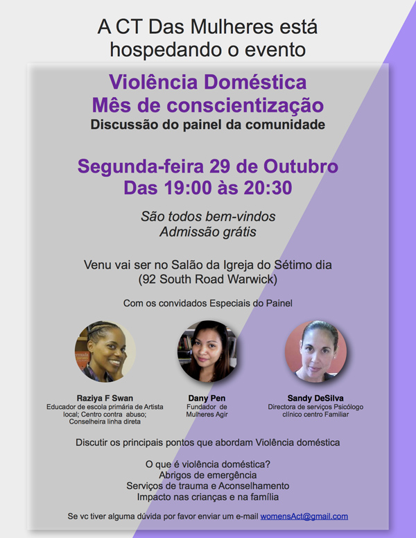 Domestic Violence Awareness Month Bermuda Oct 2018 - Portuguese