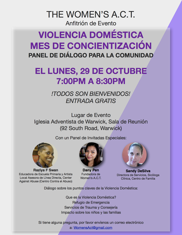 Domestic Violence Awareness Month Bermuda Oct 2018 - Spanish